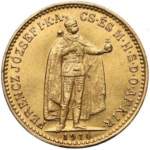 Węgry, Franciszek Józef I, 10 koron 1910 KB