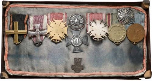 Zestaw odznak i odznaczeń legionisty I Brygady
