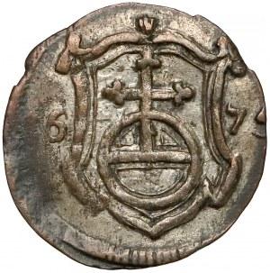 Niemcy, Saksonia, Jan Jerzy II Wettyn, 1 fenig 1675 CR
