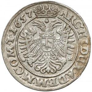 Śląsk, Ferdynand III, 3 krajcary 1657 GH, Wrocław