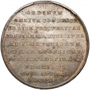 Poniatowski, Medal Uchwalenie prawa o miastach 1791 r. (Holzhaeusser)