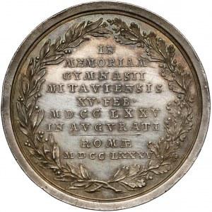 Kurlandia, Piotr Biron, Medal SREBRO 1785 - Gimnazjum w Mitawie