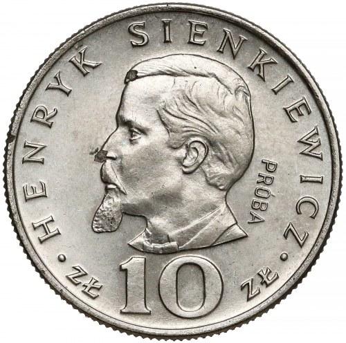 Próba NIKIEL 10 złotych 1974 Henryk Sienkiewicz