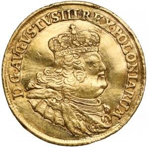 August III Sas, Dukat Lipsk 1756 EDC