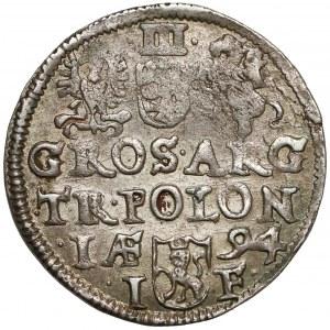 Zygmunt III Waza, Trojak Olkusz 1594
