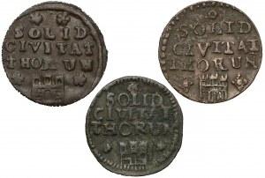 August III Sas, Szelągi Toruń 1761-1763, w tym rzadki (3szt)