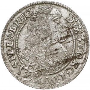 Śląsk, Jerzy III Brzeski, 3 krajcary 1661 EW, Brzeg - bez kropek