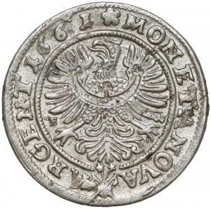 Śląsk, Ludwik IV Legnicki, 3 krajcary 1661 EW, Brzeg - serce