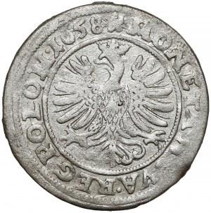 Jan II Kazimierz, 3 krajcary Opole 1658 - bardzo ładne