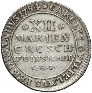 Niemcy, Brunszwik, Karol Wilhelm, 12 groszy maryjnych 1784