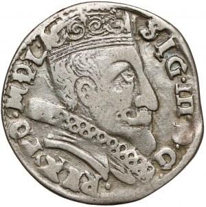 Zygmunt III Waza, Trojak Wilno 1598 - rurkowana kryza - rzadki