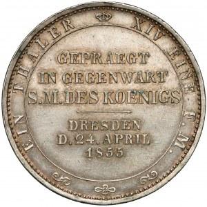 Niemcy, Saksonia, Talar pamiątkowy 1855 - wizyta w mennicy