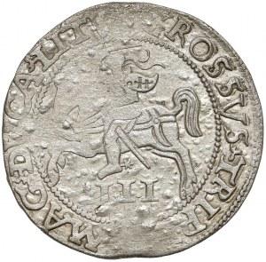 Zygmunt II August, Trojak Wilno 1562 - SZEROKI