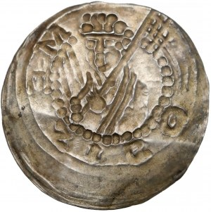 Mieszko III Stary (1173-1202), Brakteat łaciński - Książę z proporcem - RZADKOŚĆ