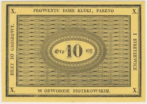 Kluki, Parzno i Strzyżewice, 10 groszy (XIX w.)