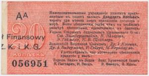 Łódź, Urząd Starszych Zg. Kupców, 20 kop. (1914) - wystawca drukiem - AA