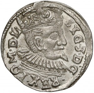 Zygmunt III Waza, Trojak Lublin 1597 - Ecke - PIĘKNY