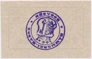 Rogoźno, 50 fenigów (1919) - niemiecki stempel, z kropką po