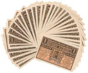 Cieszyn, 1 korona październik 1919 - zestaw (31szt)
