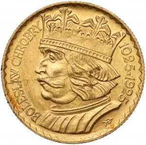 10 złotych 1925 Chrobry - destrukt - wada blachy