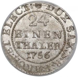 August III Sas, 1/24 talara 1756 FWóF, Drezno - PIĘKNA