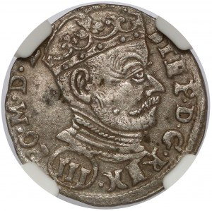 Stefan Batory, Trojak Wilno 1580 - (III) pod popiersiem