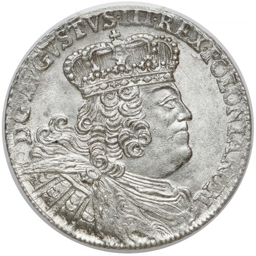 August III Sas, Ort Lipsk 1755 EC - piękny