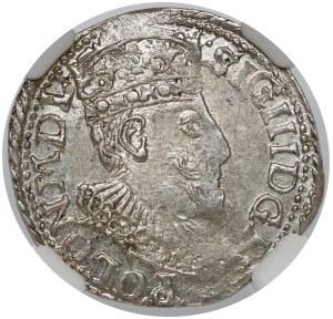 Zygmunt III Waza, Trojak Olkusz 1598 - bardzo ładny