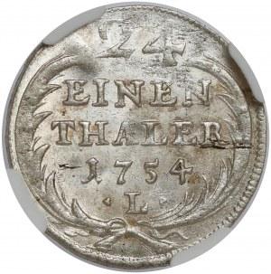 August III SaS, 1/24 talara 1754 EDC i L, Lipsk - PIĘKNA