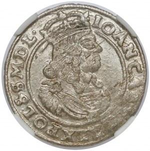 Jan II Kazimierz, Szóstak Bydgoszcz 1663 AT - piękny