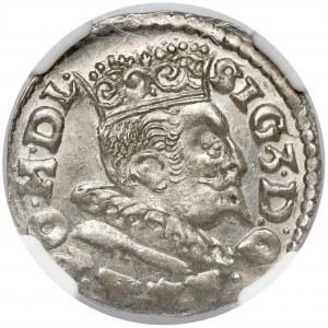 Zygmunt III Waza, Trojak Lublin 1596 - PIĘKNY