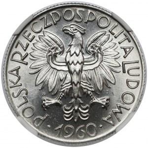 5 złotych 1960 Rybak - skrętka - piękny