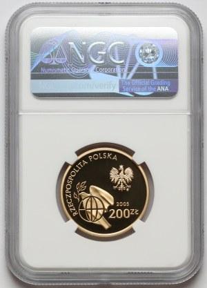 200 złotych 2005 60. Rocznica Zakończenia II Wojny Światowej