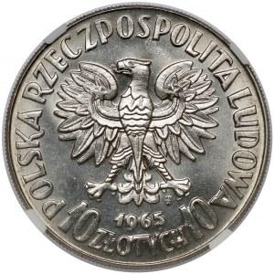 Próba NIKIEL 10 złotych 1965 VII Wieków Warszawy