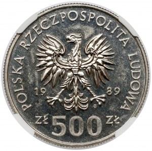 Próba NIKIEL 500 złotych 1989 Wojna Obronna