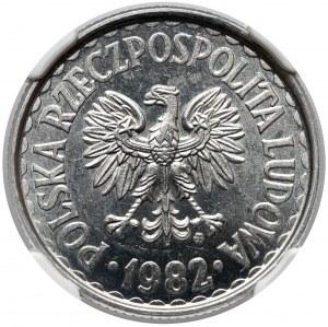PROOF LIKE 1 złoty 1982 - jak lustrzanka