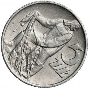 Destrukt 5 złotych 1974 Rybak - skrętka