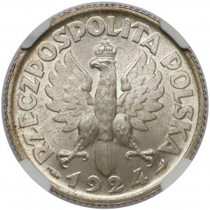 Kobieta i kłosy 1 złoty 1924 - WYŚMIENITE