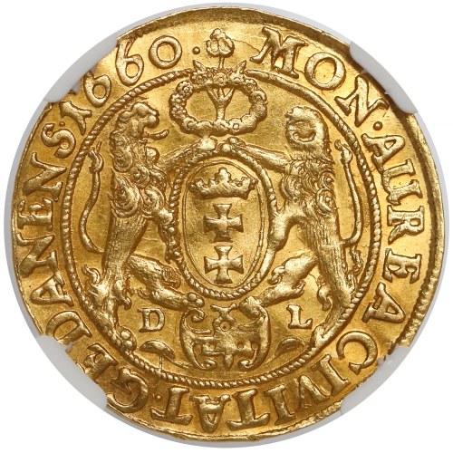 Jan II Kazimierz, Dukat Gdańsk 1660 DL - piękny