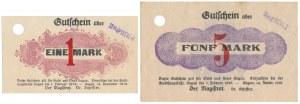 Sagan (Żagań), 1 i 5 mk 1918 UNGULTIG (2szt)