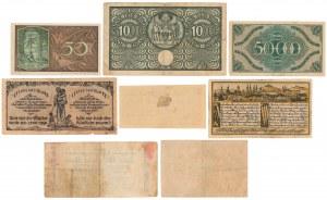 Zestaw notgeldów niemieckich (8szt)