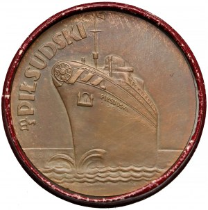 Medal I. podróż statku M/S Piłsudski 1935 r. - Gdynia - Nowy York