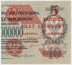 5 groszy 1924 - prawa połowa