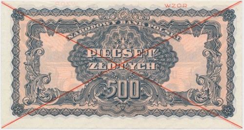 500 złotych 1944 ...owym - WZÓR - AC