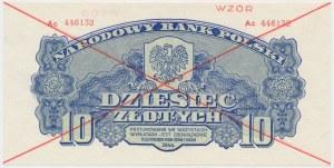 10 złotych 1944 ...owe - WZÓR - Ac
