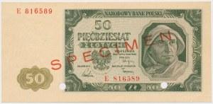 50 złotych 1948 - SPECIMEN - E - perforacja