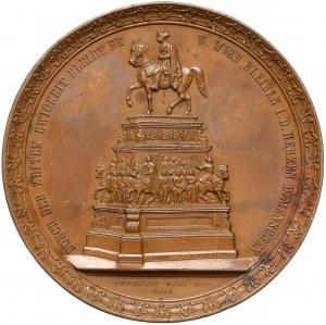 Niemcy, Brandenburgia-Prusy, Fryderyk Wilhelm IV, Medal - Odsłonięcie pomnika konnego Fryderyka Wielkiego 1851 (Mertens/Loos)