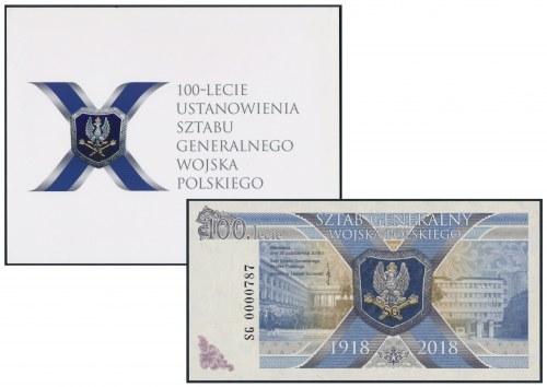 PWPW banknot 100-lecie Sztabu Generalnego Wojska Polskiego + dodatki