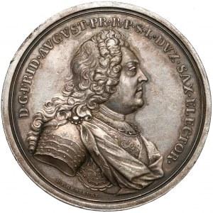 August III Sas, Medal upamiętniający śmierć ojca - króla Augusta II 1733 r. - b.rzadki