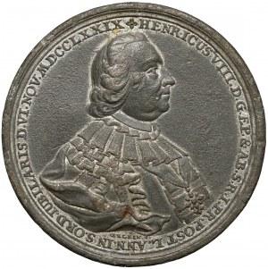 Niemcy, Hesja, Fulda, Henryk VIII, Medal - w 50. rocznicę kapłaństwa 1779 (J.L.Oexlein)